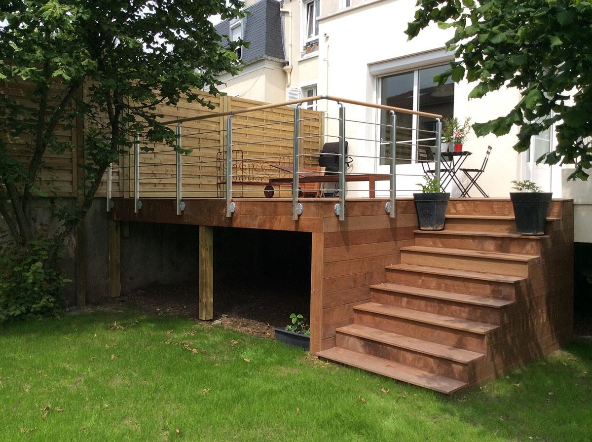 Arbuste Brise Vue Terrasse création de terrasse, aménagement d'un jardin - au bois fleuri